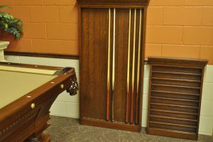 Quartersawn Oak Cue & Ball Racks Circa 1895