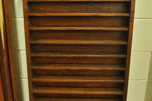 quartersawn oak cue ball rack 03