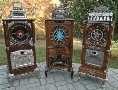 restored vintage slot machines