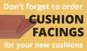Don't forget the cushion facings