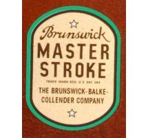 Brunswick Master Stroke Decal (quality reproduction)