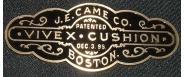J E Came reproduction nameplate 4.25in x 1.75in